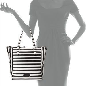 Marc Jacobs 'Take Me' Striped Leather Tote Bag